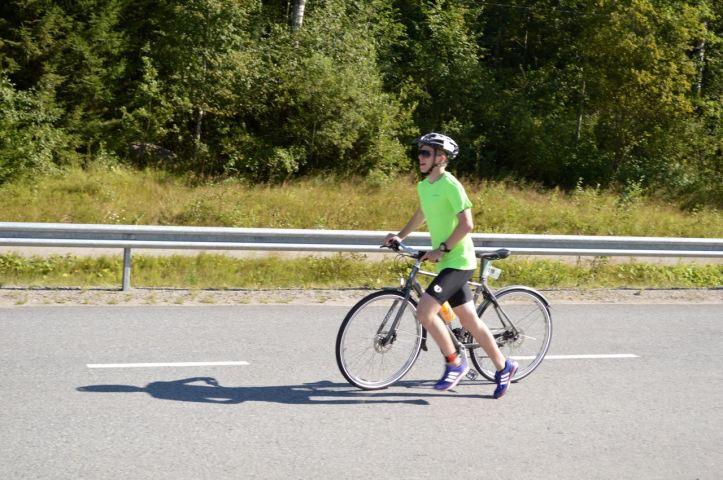 Pyöräilyosuus ohi