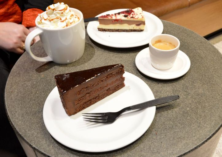 Starbucks chocolate and cheese cakes