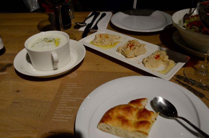 Hummus and cacık
