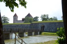 Real medieval castle with real moat around it