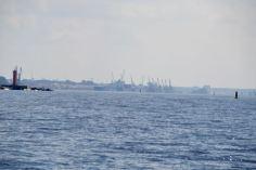 Approaching mouth of Daugava River