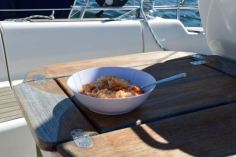 Lunch on the aft sundeck