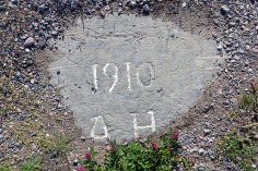 Pilots initials to where he got with building the road