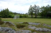 Soccer field in a lot better shape than in Sandhamn