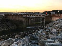 The lock, low tide