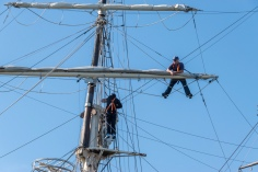 Real sailors? With safety harnesses